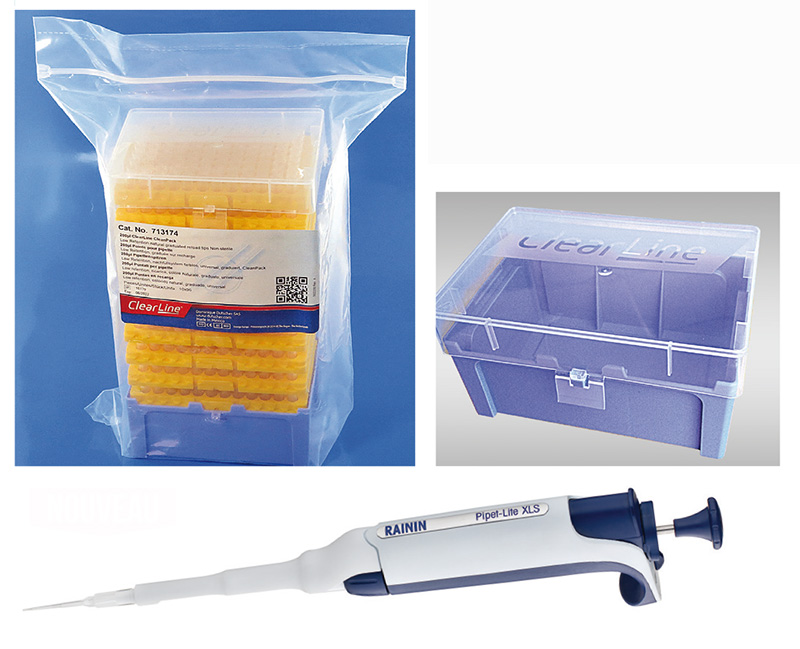 Starter Kit micropipette 200 µl ClearLine®