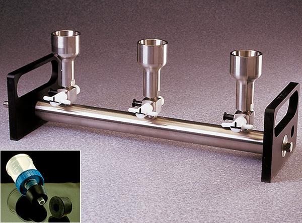 Vacuum filter funnel Manifold, three outlets - Nalgene