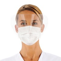 3 ply surgical mask with visor