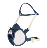 3M Half Mask with Integrated cartridge and filters - 4000+ Series