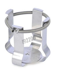 Stainless steel clamp for 500 mL bottle
