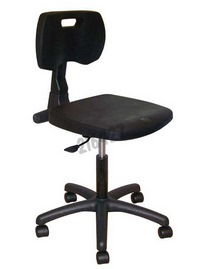 Eco polyurethane chair- Permanent contact backrest - Base: castors - Without footrest - Height 480 - 610 mm